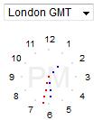 右下角显示世界各地时间的时钟js特效