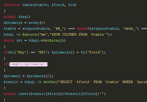 织梦:自己动手添加一个函数 实现任意字段调用